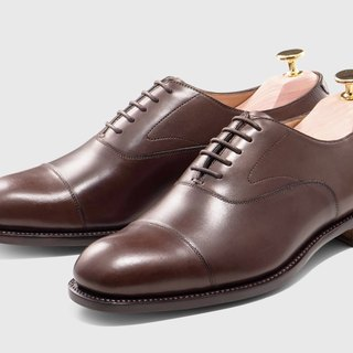 Brown three joints Oxford shoes Goodyear suture handmade