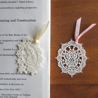 Embroidered  Lace bookmarks :little bunny / owl