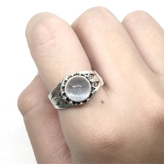Seawater Sapphire 925 Sterling Silver Carved Rings Nepal Handmade Mosaic (Style 2)
