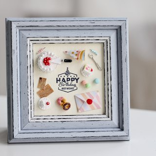 Miniature Birthday Party Set / Frame / Zakka / Decoration / Birthday present