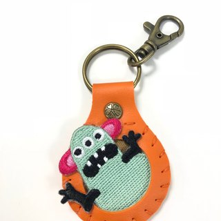 Big belly slides a monkey monkey to play embroidered cloth stickers key ring