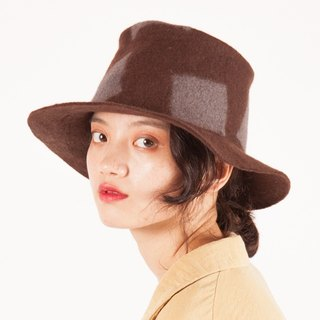 Ke people original handmade autumn and winter wool feathers hat hat British pure wool wool felt elegant wild carpet