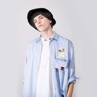 UNISEX DESIGN CHEST POCKET SHIRT
