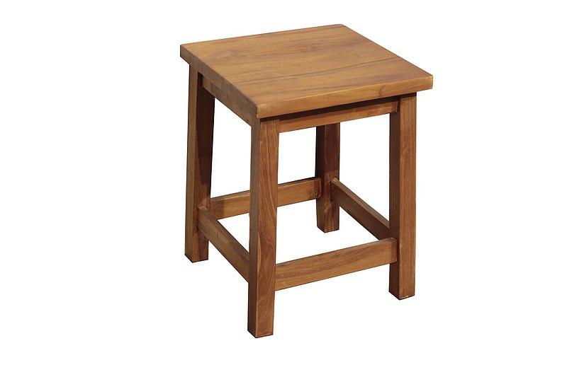 吉迪市JatiLiving | 柚木原木方板凳 椅凳  椅子 洗澡椅 ETCH011