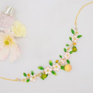 Aramore small white flowers and small fruit necklace ﹝ single production ﹞