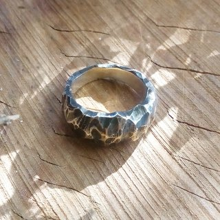 Sterling Silver - Earth Ring - Each pattern is different