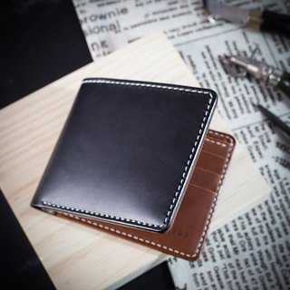 MISTER Italy's top vegetable tanned skin [hand-stitched wallet] customized lettering