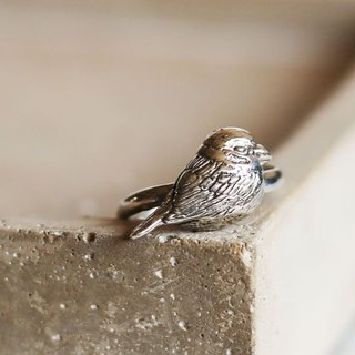 Petite Fille Women's Unfinished Silver Mini Collection Sparrow Silver Ring