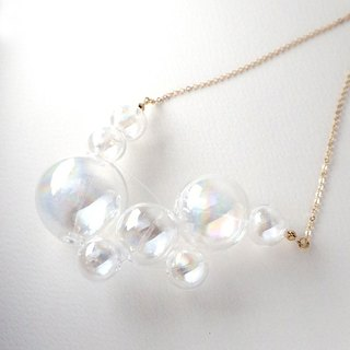 NOVOLA DICHORIC - Rainbow coated Glass Bubbles Necklace
