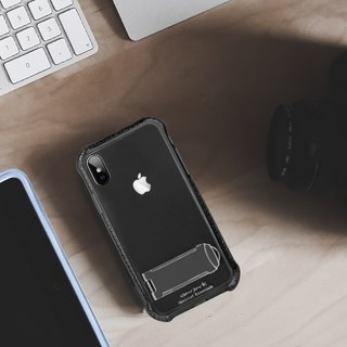 "Stiff Series │iPhone X (5.8"")│Shock absorbing case with stand│Cobalt black"
