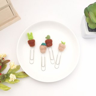 Wool-felting Succulent Paperclips