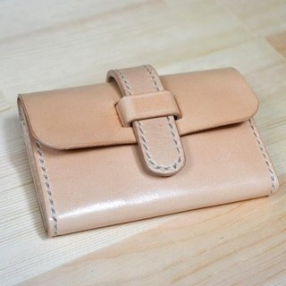 Leather leather hand-made hand-dyed business card package document bag card package coin purse can be customized printing