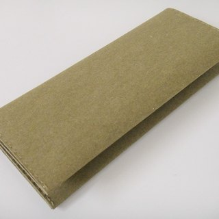(long clip) big pocket change layer 6 card change wallet pure texture large capacity washed kraft paper