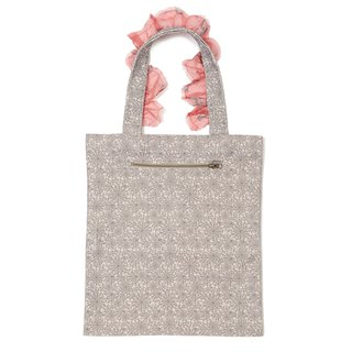 Abstract Faces Frilly Tote