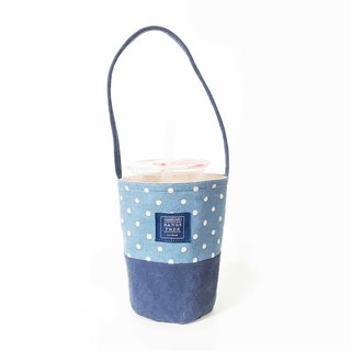 Drink bag - light blue pearl