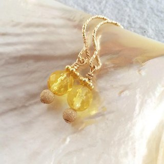Baltic marine amber K14GF earrings