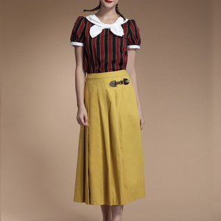 Pleated skirt skirt
