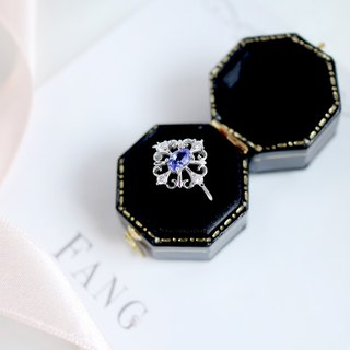 [court small gem series - Danquan stone] 925 sterling silver ring