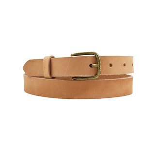 FULLGRAIN │ Italian vegetable tanned leather leather belt 2.5cm - fine version of bronze buckle