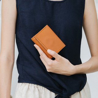 MINMIN- HANDMADE SMALL LEATHER GOODS/CARD HOLDER - TAN