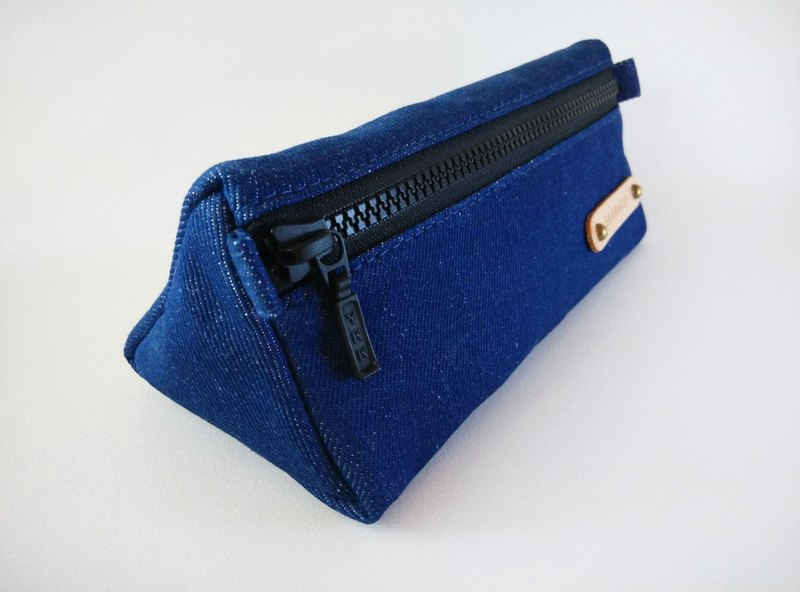 Gifts / Handmade Canvas Pencil Bags / Free Customized Branding (Blue)