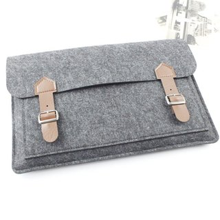 [Customizable] Original handmade dark gray felt felt sleeve protective sleeve Apple iPad Pro 12.9 inches plus keyboard cover laptop computer bag iPad Pro iPad 2017 plus keyboard (can be tailored) --047