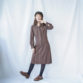 Vintage 60s MOD Striped Shirt Dress