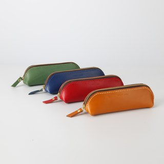 [Cut line] handmade leather pencil bag imported leather art simple retro pencil zipper