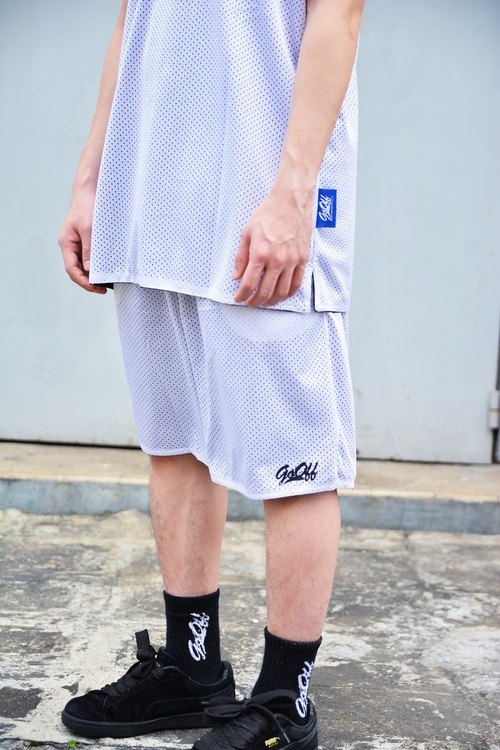 GO OFF REVERSIBLE MESH SHORTS-雙面運動短褲