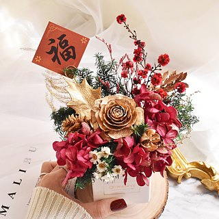 Elegant temperament golden potted flower dry flower wedding small things Valentine's Day Chinese Valentine's Day Mother's Day Christmas