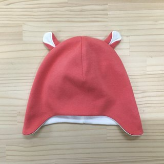 gujui plain organic cotton baby cap _ carrot red