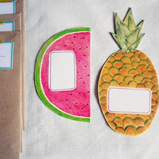 Pineapple & Watermelon Illustrated Postcards - Set of 4 Quirky Snail Mail Stationery