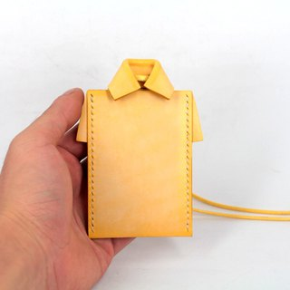 MOOS X WASOME ORIGAMI Fully hand-sewn ID card holder (yellow)