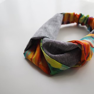 Headband Coburg -FH08 -cotton, fabric, hairband, accessories