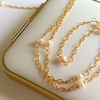 Natural Freshwater Pearl Clavicle Simple 14K Gold Necklace Birthday Gift Girlfriend Gift