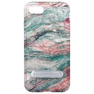 Camouflage marble hidden magnet bracket iPhone 8 7 6 plus phone case