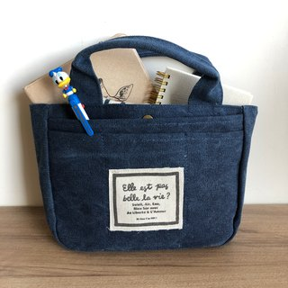 FiFi Life is beautiful Mini Dual Lightweight Bag - Washed Blue