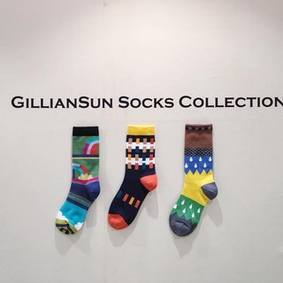 GillianSun Socks Collection [HOT Hot Deals] 1611YL_Puzzle