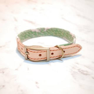Dog collars, M size, green sika deer_DCJ090433