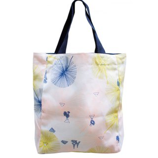 Paris small walk light double-sided tote bag Paris Kyoto / La Seine