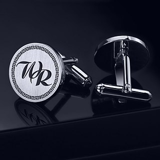 Initials Cufflinks - Personalized Cufflinks - Engraved Cufflinks for groom