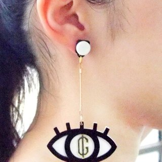 Greed Eyes S Pendant Earring