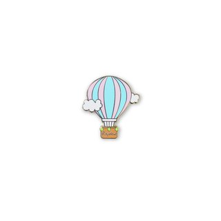 Doughnut Brand Original Badge - Pink Hot Air Balloon