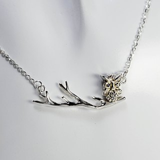 zo.craft owl necklace / 925 sterling silver