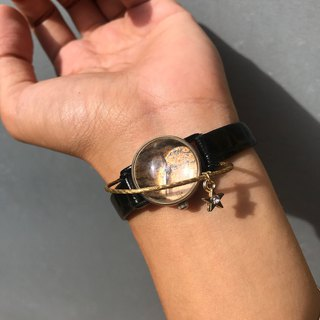 【Lost And Find】Natural  wooden stone planet saturn watch