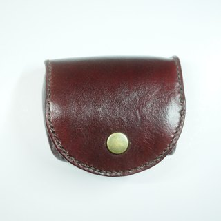 Billowing leather coin purse coffee red