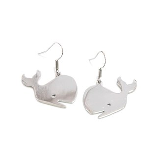 Cute Whale graphic earring