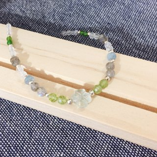 MH sterling silver natural stone custom series _ lucky grass _ fluorite