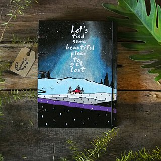 Milky way under the night sky. Notebook Handmadenotebook Diary 筆記本 journal