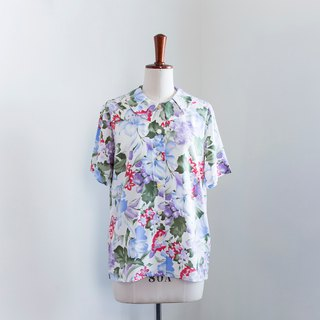 Banana Flyin Vintage Vintage Vintage Short Sleeve Flower Shirt